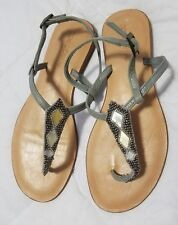 94c2e60d636412 Cocobelle Leather Embellished Strappy Thong Sandals Size 7.5 Handmade