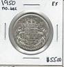 Canada 1950 50 Cents No Design EF