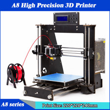 2019 Letzte Version A8 3D Printer Reprap Prusa i3 Heated bed DIY kit 3D Drucker