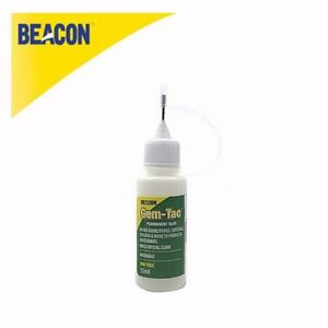 15ml Beacon's Gem-Tac Glue Crystals Tip Needle Bottle for Jewellery Card Making