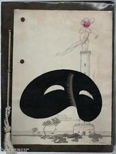Henri STEPHANY Aquarelle originale + 26 photos Menus Art Déco Proche de Ruhlmann