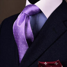 Purple Pindot Polka Dot Classic Tie Mens 8cm Necktie Fashion Accessory Violet GQ