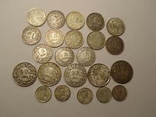 konvolut alte schweizer franken münzen silber