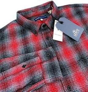 Levis Made & Crafted 100% Cotton Flannel Long Sleeve Men`s Shirt $148