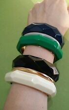 KATE SPADE ♤ NEW YORK, TRIPLE THREAT BANGLE/BRACELET GREEN-GRAY-BLUE. MSRP $248