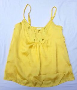 EX CON MinkPink Size 8 Singlet Tank Top Blouse Yellow Casual Festival Event