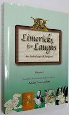 Limericks for Laughs Volume 1 by Adrian Lane-Mullins Hardback/Jacket 2012 VGC