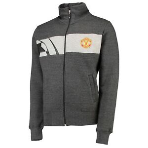 Manchester United UEFA Champions League Silverwear Track Jacket - Grey  Mens XXL