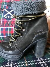 Womens DIESEL Sexy Suede Boots Wedges Heels UK Size 3 / 36
