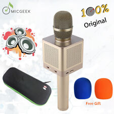 100% Original MICGEEK Q10S Karaoke Microphone Wireless Bluetooth Loudspeaker 15W