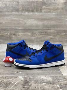 Nike SB Dunk Mid J PACK ROYAL BLACK WHITE BLUE SUEDE Size 11.5 2009 314383-402