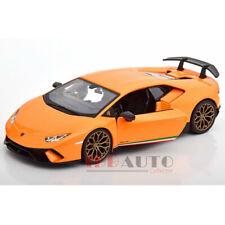 BBURAGO LAMBORGHINI HURACAN PERFORMANTE ORANGE 1/24 DIECAST MODEL CAR 21092