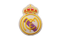 """REAL MADRID  SOCCER FOOTBALL IRON-ON PATCH CREST BADGE..2 1/4""""X 3"""" IN."""