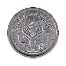 elf French Somaliland 1 Franc 1965 Lyre Antelope