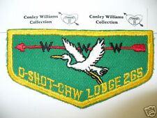 OA O-Shot-Caw Lodge 265,F-2, 1950s,Arrow & Heron Left Flap,YEL, South Florida,FL