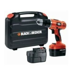 BLACK & DECKER EPC12 CORDLESS Drill& SCREWDRIVER 12V + Extra Battery& Drill Bits