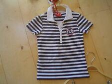 SO 12- Camiseta Polo, azul oscuro-blanco de rayas V. paglie Talla 104-140