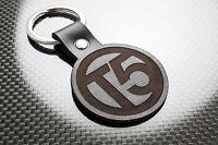 VW T5 TRANSPORTER Leather Keyring Keychain Schlüsselring Porte-clés Caravelle