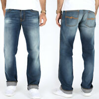 Nudie Herren Regular Slim Fit Jeans Hose | Slim Jim Blue Shades | W31 / W32