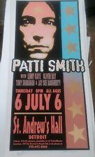 PATTI SMITH Concert Silk Screen Concert Poster Arminski face