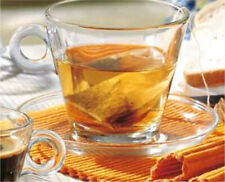 Clear Glass 8 Piece Tea Cup And Saucer Set With Teaspoons 280ml Coffee Mugs New