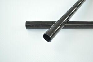 2pcs 10mm Tubing 3K Carbon Fiber Tube OD12mm x ID10mm L1000mm Wing Tube /Pole