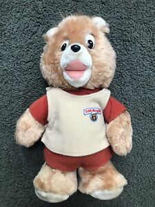 """VINTAGE 1985 Teddy Ruxpin Little Boppers 13"""" Bear Plush Stuffed Toy NOT TESTED"""
