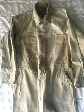 Men's Vtg Oshkosh Mechanic's Work Coveralls Jumpsuit Usa 42R Tan Cotton Twill