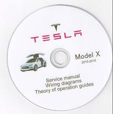 Tesla X model Service Repair Workshop Manual + Wiring diagram 2015-2016 diagnos