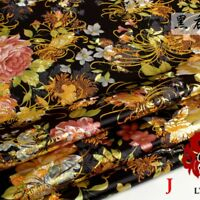 Chinese Peony Satin Jacquard Brocade Floral Fabric Costume Upholstery By Meter 5