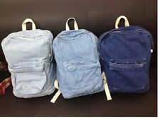 Unisex Vintage Washed Denim backpack american apparel school bag for man women