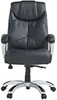 Used X-Rocker Leather Effect Executive High Office Chair black-GBR139.