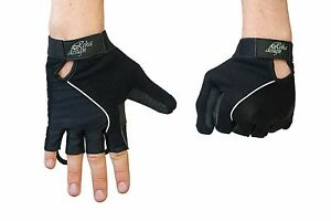 Wheelchair Gloves Gel Palm Reha Design Ultra Lite High Tech Black