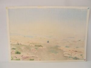 ⭐Israel Original Vintage Pencil Art Signed Landscape Drawings By YOLA Colored ⭐