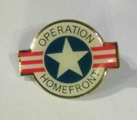 Vintage Rare Operation Homefront Lapel Red White Blue Pinback htf USA Star Pin