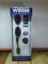 Weiser Welcome Home 9GA94710-046, Shelburne Troy Handle & Lock Set, Iron Black