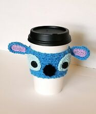 Stitch Coffee Cup Cozy Inspired by Lilo and Stitch Disney Crochet Drink Sleeve