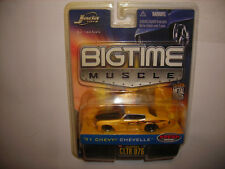 JADA BigTime muscle '71 Chevy Chevelle Yellow Flames FRESH RIDES 1:64 FREE SHIP