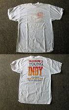 White YOUNG INDY Indiana Jones tv show Antique Auto Sales T-Shirt, size XL