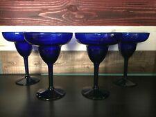 New ListingMargarita Glasses Set of 4 Cobalt Blue Party Drinkware Barware
