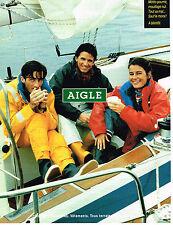 PUBLICITE ADVERTISING 035  1993  AIGLE vetements de pluie bottes chaussures tt