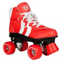 New Rookie Retro V2.1 Unisex Kids Adults Quad Wheels Roller Skates Red rrp £70