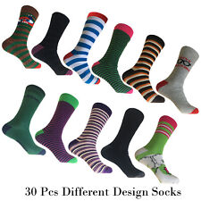 30 Pairs Wholesale Men Socks 10 Different Design UK 6-10.5