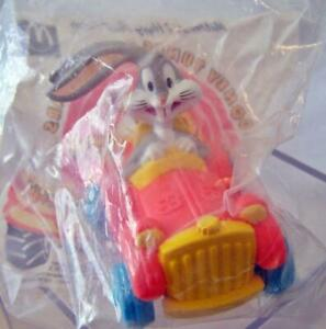 NIP 1992 Looney Tunes Quack Up Cars Happy Meal Toy Bugs Super Stretch Limo