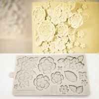 Large Assorted Flower Collection Silicone  Fondant Mold Sugarcraft Cake Decor