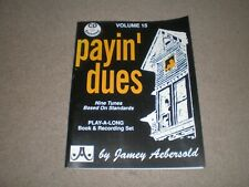Payin' Dues Jamey Aebersold Volume 15 Jazz Play Along Book & CD NEW