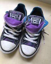 Converse All Star Kids Trainers Pumps Size UK 13 Shoes Purple Blue Girls Or Boys