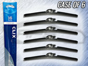 "AUTOTEX CLIX 16"" WIPER BLADE - CLIX-16 - CASE OF 6 - REPLACES IN 10 SECONDS"