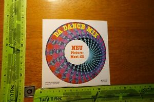 Alter Aufkleber Bühne DA DANCE MIX Picture Maxi-CD