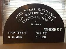 Jack Daniel's Lem Motlow RARE Metal Stencil Whiskey Barrels Shop Studio TORNO